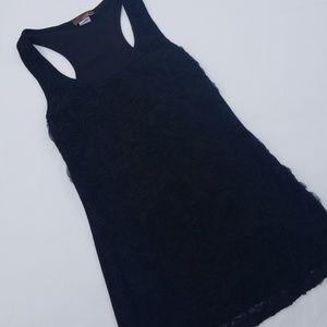 Rose Black Tank Top Size XS